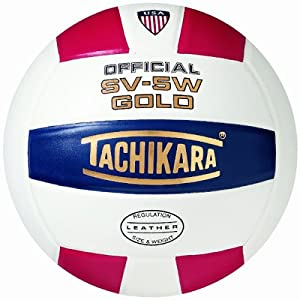 Buy Tachikara SV5W Gold Competition Premium Leather Volleyball by Tachikara