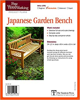 Fine woodworking 39 s japanese garden bench plan fine for Japanese garden project