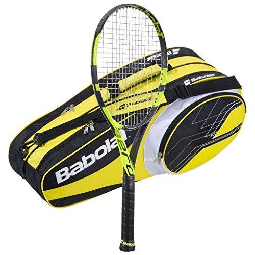 Babolat Pure Aero Tennis Racquet - 2016 AeroPro Drive - STRUNG with 6 Racquet Bag