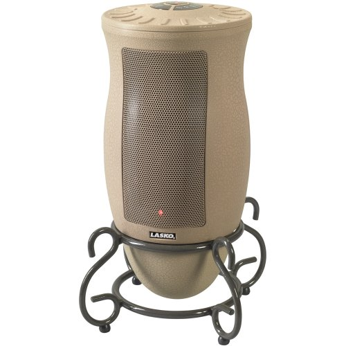 B000N22JX6 Lasko 6435 Designer Series Ceramic Oscillating Heater with Remote Control