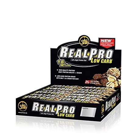 All Stars Real Pro Low Carb Bar (24 x 50g) Stracciatella