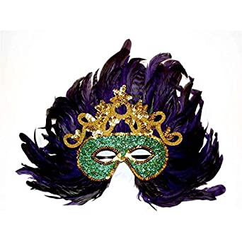 Amazon.com: Mardi Gras Fancy Feather Mask: Costume Masks ... - photo #37