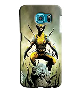Omnam Wolvrine Sitting Printed Designer Back Cover Case For Samsung Galaxy S7