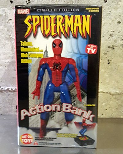 "Marvel Spider-Man Action Bank Limited Edition (As Seen on TV) 11 1/2"" Tall (2002)"