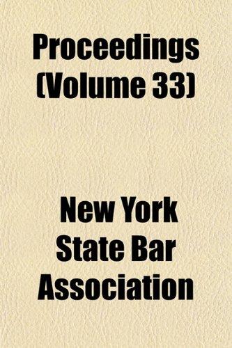 Proceedings (Volume 33)