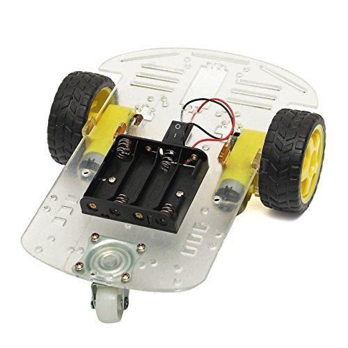 Car Chassis Kit - SODIAL(R) New 2WD Smart Motor Robot Car Chassis Battery Box Kit Speed Encoder for Arduino (2wd Robot Car compare prices)