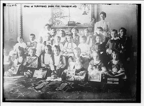 Reprint Xmas in temporary home for children, NY 1900