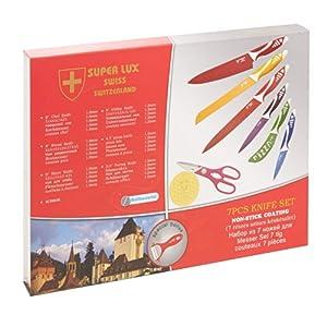 Super Lux 7 Pcs Swiss Knife Set - Non-Stick Coating: Amazon.co.uk ...
