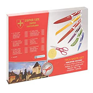 Super Lux 7 Pcs Swiss Knife Set - Non-Stick Coating