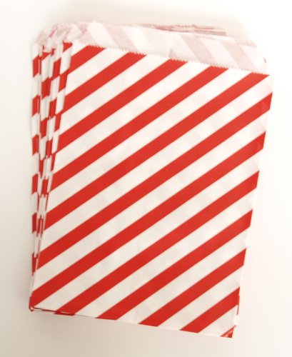 Birthday Loot Bags For Kids, Red Stripe (25 Pack) - Use With Piñatas, Treasure Hunts, Trinkets, & Arts And Crafts Supplies back-977532