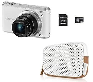 SAMSUNG SMART Camera WB350F / WB352F - white - Digital camera + Case + 8 GB microSD memory card