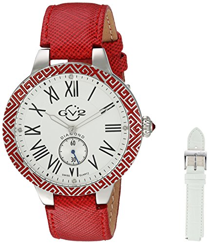 GV2-by-Gevril-Womens-9120-Astor-Enamel-Analog-Display-Quartz-Red-Watch