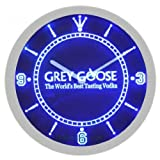 Grey Goose Vodka Neon Sign Bar Wall Clock - Blue
