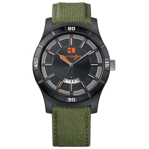 BOSS ORANGE Green Fabric Mens Watch 1512533