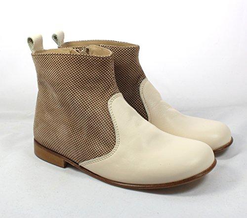 PèPè ragazza &-Stivaletti alla caviglia da uomo, in pelle scamosciata di alta qualità, Made in Italy-EU30, elegante