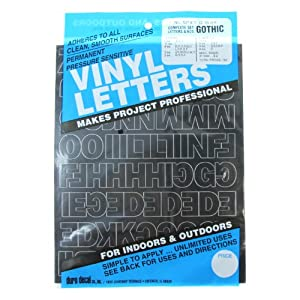 Amazon Com Permanent Adhesive Vinyl Letters And Numbers