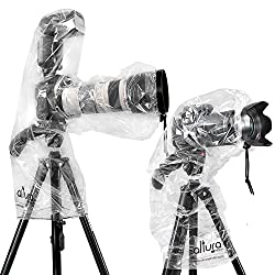 1 Rain cover (Dust Proof) protector for camera with external FLASH + 1 Rain cover (Dust Proof) protector without external flash for Canon