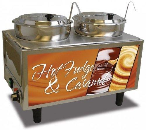 Benchmark Hot Fudge/Caramel Warmer 2 Ladles/Lids