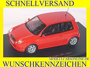 VW VOLKSWAGEN LUPO GTI RED 2001 1/43 SPARK MODEL CAR SPECIAL OFFER