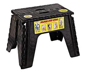 "B & R Plastics 103-6BK E-Z Foldz Black 12"" Step Stool"