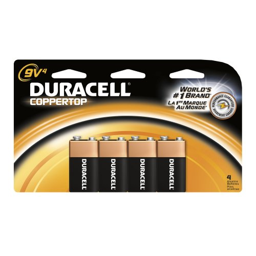 Duracell Batteries, 9-Volt Size, 4-Count Packages (Pack of 2)