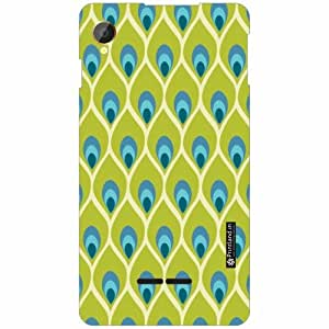 Intex Aqua Power Back Cover - Silicon Pattern Art Designer Cases
