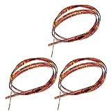 3pcs Flame Celluloid 5 Feet Guitar Binding Purfling Strip 1650 x 6 x 1.5 mm