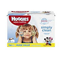 HUGGIES Simply Clean Baby Wipes, Unscented, Soft Pack ,792 Count