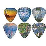 Claude Monet Guitar Picks Art Gifts - Waterlilies Sunrise Twilight Nympheas Art - Celluloid Medium 12 Pack - Unique Guitarist Gift Accessories by Creanoso