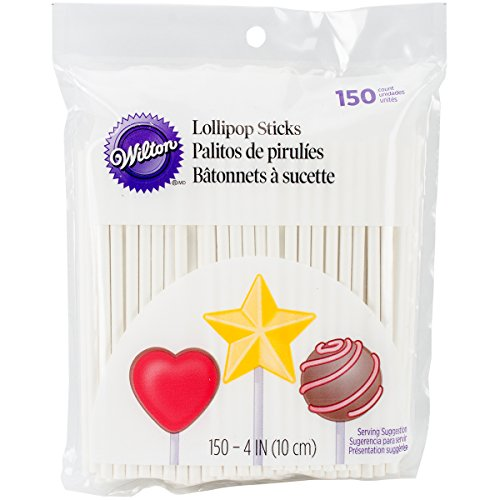 Wilton 1912-1001 4-Inch Lollipop Sticks, 150 Pack
