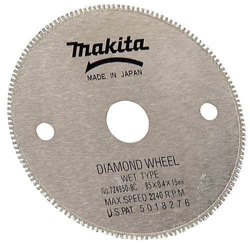 Makita 724950-8C 3-3/8-Inch Wet Cutting Diamond Saw Blade with 15-Millimeter Arbor for Cutting Tile or Glass (Makita Wet Saw compare prices)