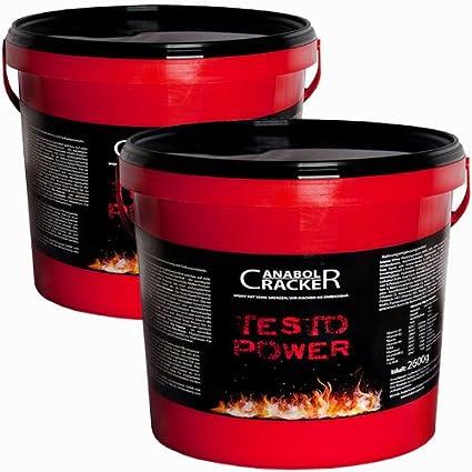 2X Testo Power, Protein Creatin Shake, 5200g Frucht Geschmack, Eiweißpulver Sonderangebot Anabol Cracker