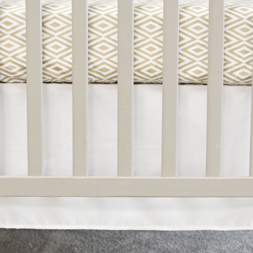 Oliver B Crib Skirt, White