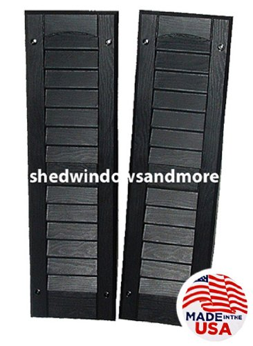 Louvered Shed Shutter or Playhouse Shutter Black 6