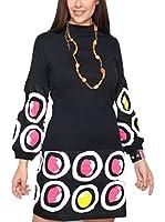 ZZ_HHG Vestido (Negro / Multicolor)