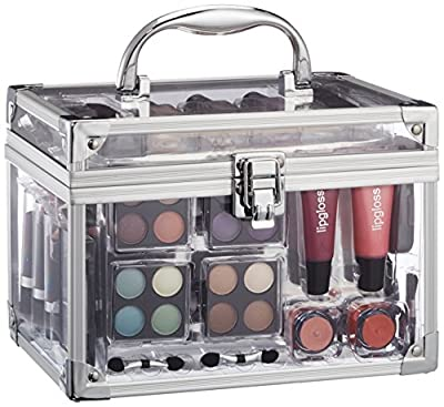 Vanity Case Make Up Cosmetic Set Case Travel Organizer Professional Nail Lip Eye 43 Piece