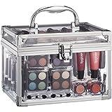 Urban Trading - Coffret Malette Maquillage Voyage Acrylique 42 Produits De Beauté Vanity Voyage