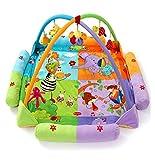 サンフラワー(SUNFLOWER) ベビージム・プレイマット 双子 赤ちゃんのおもちゃ インテリア・デコレーション ベビー&マタニティ 大きいサイズ 男女兼用 デラックスジム ピンク 王子様 9個おもちゃが付き