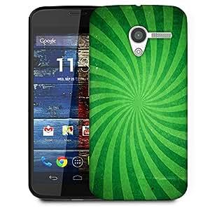 Snoogg Abstract Green Design Designer Protective Phone Back Case Cover For Moto X / Motorola X