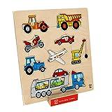 Hape - Home Education - Vehicles Knob Puzzle