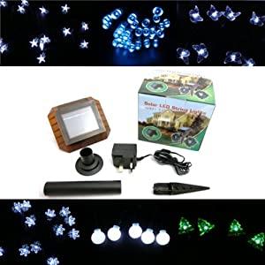 Pk Green Solar Fairy String Lights - 120 Leds /8 Modes / Solar Powered / 12 Metre Length / Christmas Lights / Indoor Outdoor All Year Use