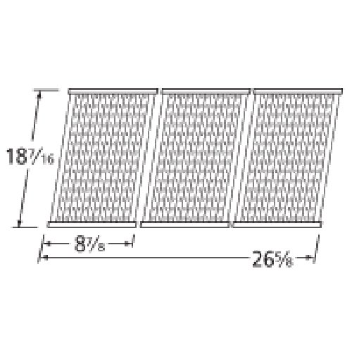 Music City Metals 5S473 Stamped Stainless Steel Cooking Grid Replacement For Select Charbroil And Kenmore Gas Grill Models, Set Of 3