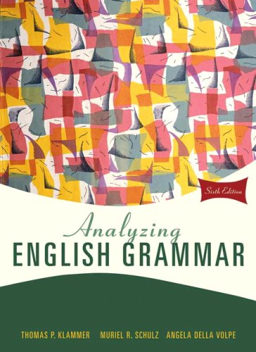 Analyzing English Grammar (6th Edition)