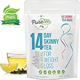 PureTea Skinny Tea - Weight Loss Tea, Diet Tea, Detox Tea, Body Cleanse, Reduce Bloating, Suppress Appetite, Weight Loss Tea For Women, Teatox, Best Way to Lose Weight Fast, Green Tea (14 Day)