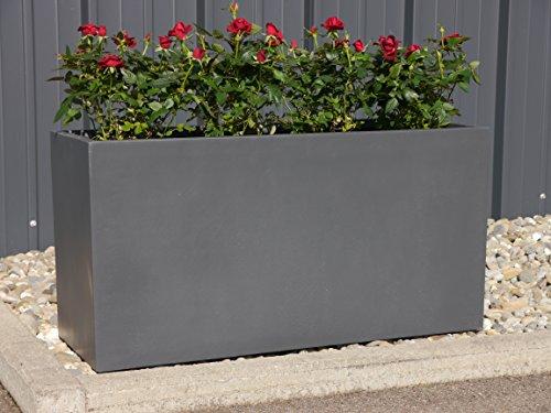 Pflanztrog-aus-Fiberglas-80x30x40cm-in-anthrazit-Pflanzkbel-Blumenkbel-Pflanztrge-Blumenkasten