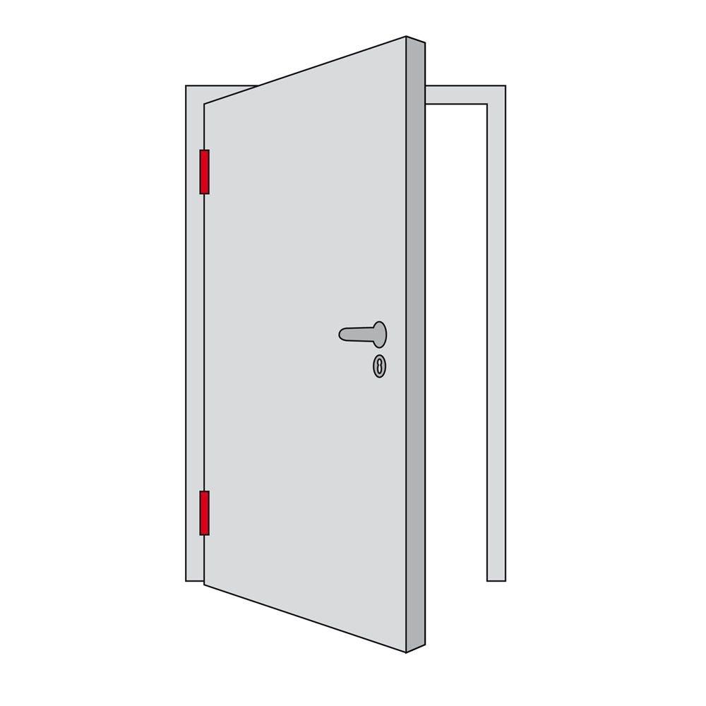Beispiel für DIN-linke Tür