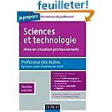 Sciences et technologie - Mise en situation professionnelle - Professeur des écoles - Admission 2014: Professeur...
