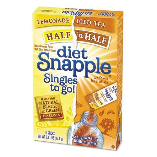 Diet SNAPPLE HALF n HALF Soft Drink Mix 6 Sticks In Each Box (4 Pack) …amtc