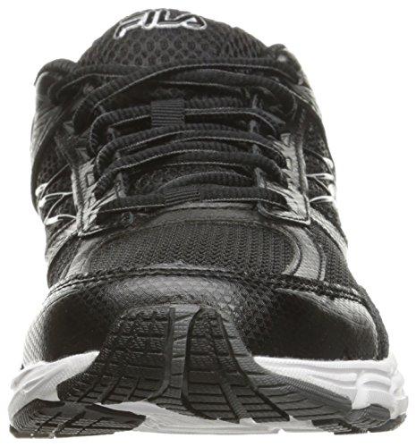 Fila Men's Royalty 2 Running Shoe, Black/Black/Metallic Silver, 10 M US