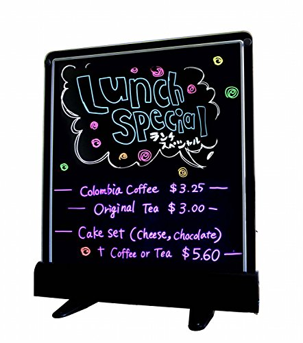 "Led Fluorescent Marker Board Neon Light Sign Dry Erasable Markerboard 14"" X 12"""